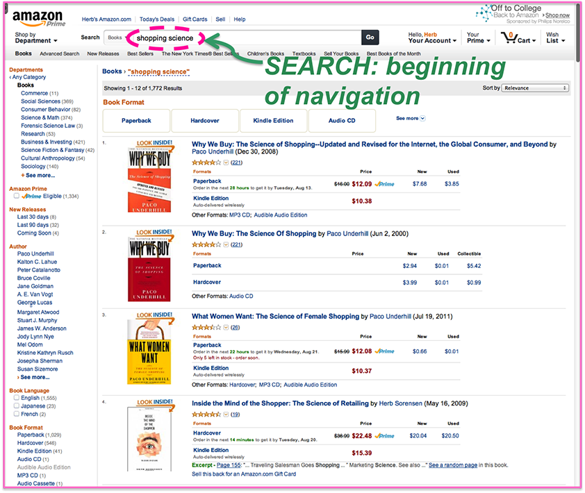 Amazon New Search